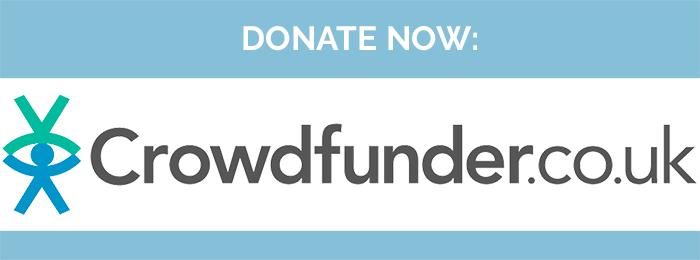Crowdfunder logo - donate now